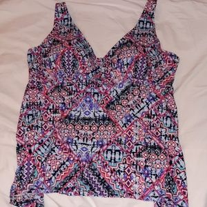 Swimsuits For All Tankini Top Batik Size 20